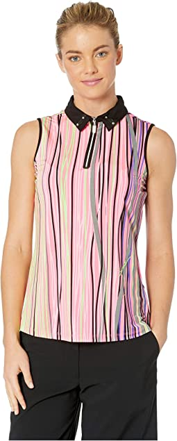 Strings Print Sleeveless Top