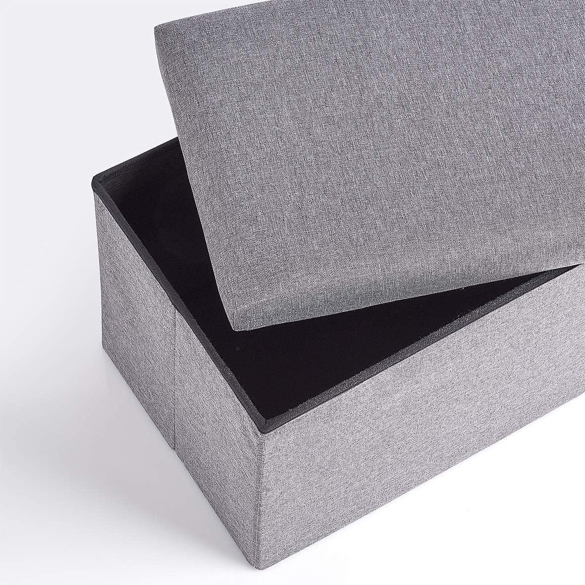 grigio 35 x 35 x 35 cm Zeller Cassapanca in similpelle e MDF