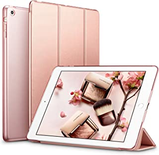 ESR iPad Mini ケース クリア iPad Mini2 ケース レザー PU iPad Mini3 ケース 軽量 スタンド機能 傷つけ防止 オートスリープ ハード三つ折 iPad Mini3/2/1(初代第二三世代) 専用スマートカバー(ローズゴールド)