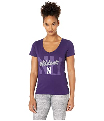 Champion College Northwestern Wildcats University V-Neck Tee (Collegiate Purple) Women