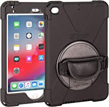 The Joy Factory aXtion Bold P Water-Resistant Rugged Shockproof Case for iPad Mini 5 & Mini 4, Built-in Kickstand, Hand Strap (CWE402)