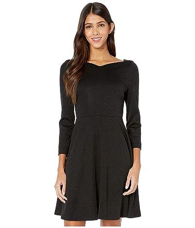 Kate Spade New York Sparkle Ponte Dress (Black) Women