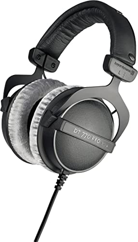 new arrival beyerdynamic DT 770 PRO 80 Ohm Over-Ear Studio Headphones in Gray. Enclosed wholesale design, wired new arrival for professional recording and monitoring online sale
