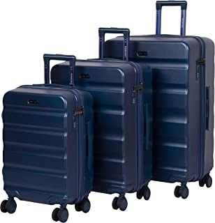 ROMEING Venice Polycarbonate Hard-Sided Luggage Set of 3 Trolley Bags (Blue) (55, 65 & 75 cm)