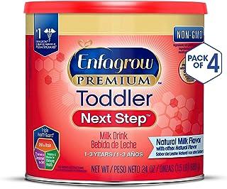 美贊臣嬰幼兒3段奶粉, 4罐裝(包裝會有所不同) Enfagrow PREMIUM Next Step,24盎司/罐(約680g/罐)(適用年齡1-3歲)