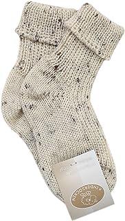 Schafwolle-Erzgebirge, calientes bebé/Niños Calcetines de lana color blanco/gris/natural en traje regional Look XX 1 par XXX en los tamaños 15 – 34 de los Montes Metálicos – Alemania