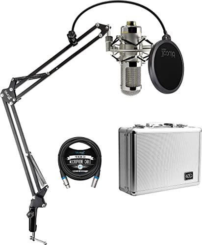 lowest MXL R144 HE Heritage Edition Ribbon Microphone for Drums, Guitar, and Horns Bundle with Blucoil 10-FT Balanced XLR Cable, and Boom Arm Plus new arrival online Pop Filter sale