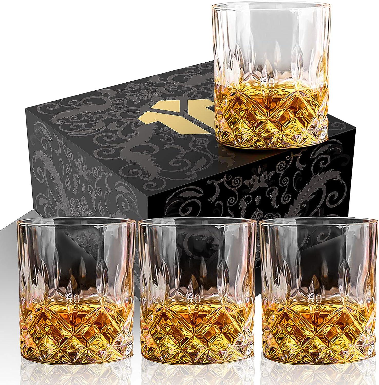 OPAYLY Crystal Whiskey Glasses Max 66% OFF Set of 10 unisex oz Rocks 4 Ol