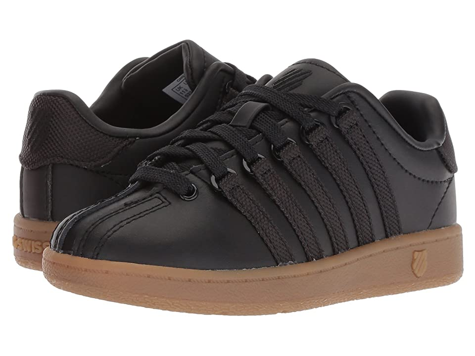 K-Swiss Classic VNtm (Little Kid) (Black/Dark Gum) Men
