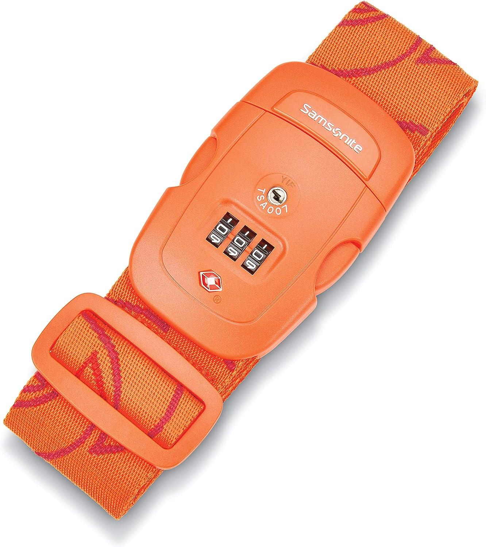 Samsonite Luggage Strap Orange Popular shop is the lowest price challenge Max 56% OFF Tiger Lock Combination