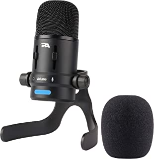 Cyber Acoustics USB Condenser Microphone for Podcasts, Gaming, Vocal, Music, Studio and Computer Recordings - Mic compatible with PC and Mac - Dual Recording Patterns (CVL-2006)