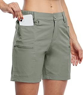 Willit Women's Hiking Cargo Shorts Stretch Golf Active Shorts Water Resistant Outdoor Summer Shorts with Pockets 5""