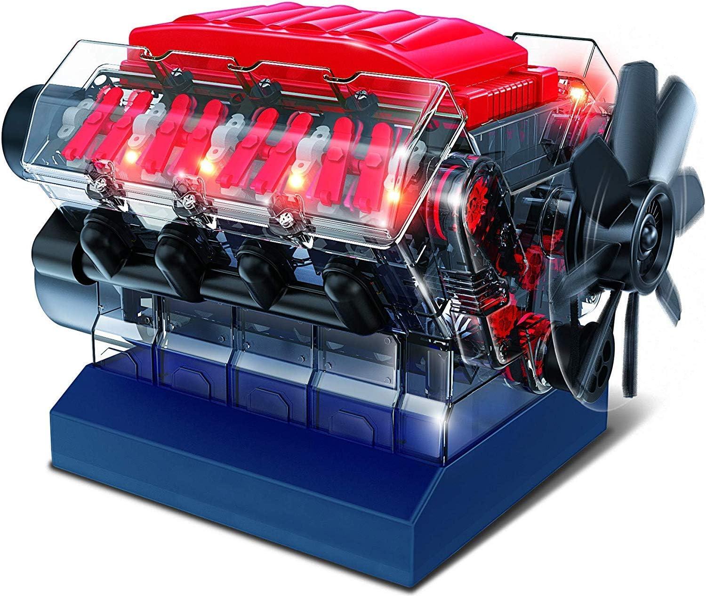 Playz V8 Combustion Engine Model Building Hobby for STEM Kit Lowest price challenge Toy Max 50% OFF