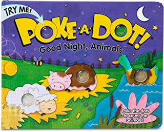 Melissa and Doug MD31343 Poke-A-Dot! Good Night, Animals Board Book