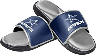 FOCO NFL Mens Deluxe Foam Sport Shower Slide Flip Flop Sandals