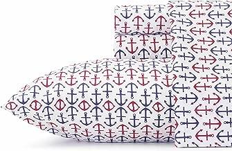 Nautica Anchor Navy Sheet Set, Twin X-Large,