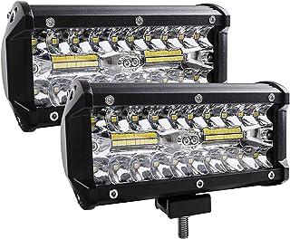 LED Arbeitsscheinwerfer 12V,EKLAMP 240W Offroad Arbeitsscheinwerfer,Licht 6000 6500K Nebelscheinwerfer Wasse,LED Arbeitslicht,Wasserdichte IP67 Arbeitslichtlampe, Leuchte Lampe,ATV (2 Pcs) (7' 240W)