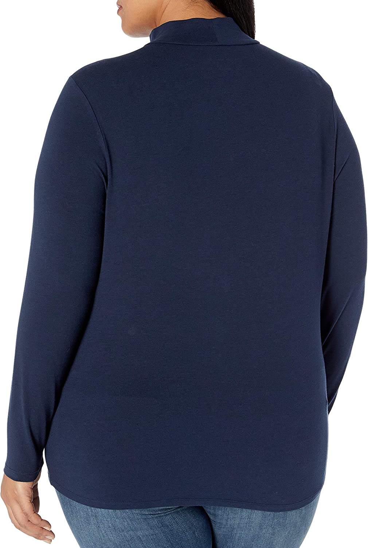 Essentials Women's Plus Size Long-Sleeve Mockneck: Clothing
