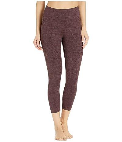 manduka Essential Cropped Leggings (Heather Fig) Women