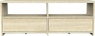 Furniture 247 - Mueble para la televisión contemporáneo con 2 cajones roble natural