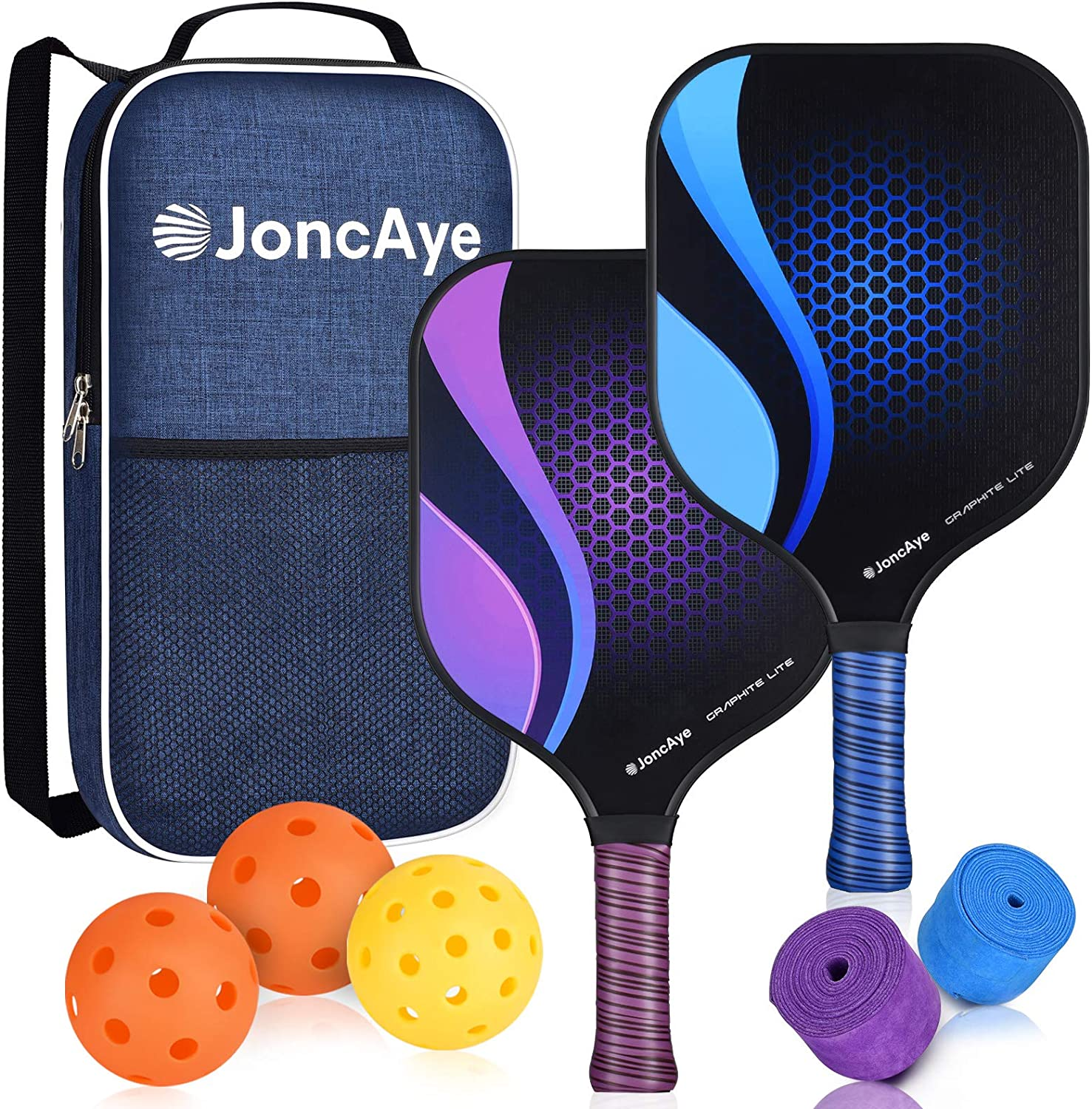 JoncAye Pickleball Paddles Set Light Limited time cheap sale with 2 Recommendation of