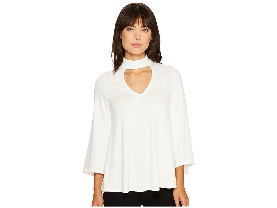 Karen Kane Mock Neck Flare Sleeve Top (Cream) Women