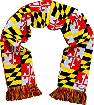 Maryland Terrapins Knitted Scarf - Reversible State Flag Special Edition