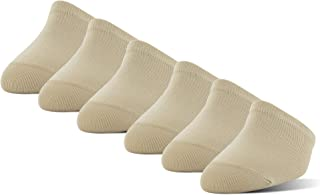 Women's Mule Toe Cappers with Grippers, 6 Pairs, nude, Shoe Size: 5-10
