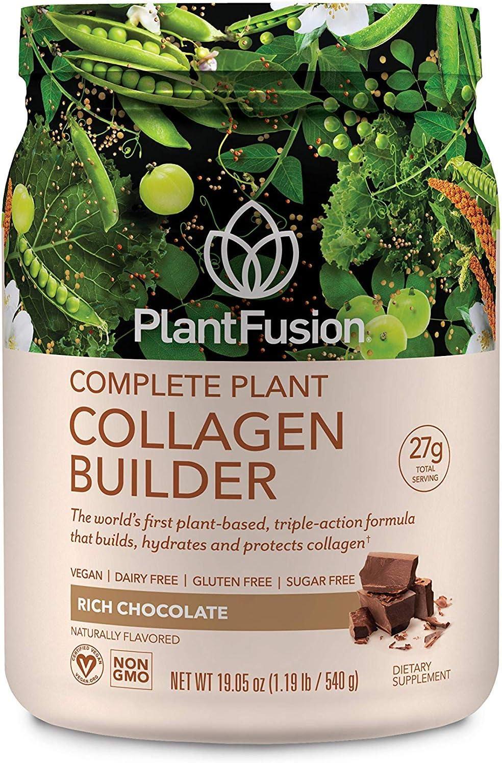 PlantFusion Collagen ショッピング Builder Plant 毎日続々入荷 Peptides Based Powder Protein