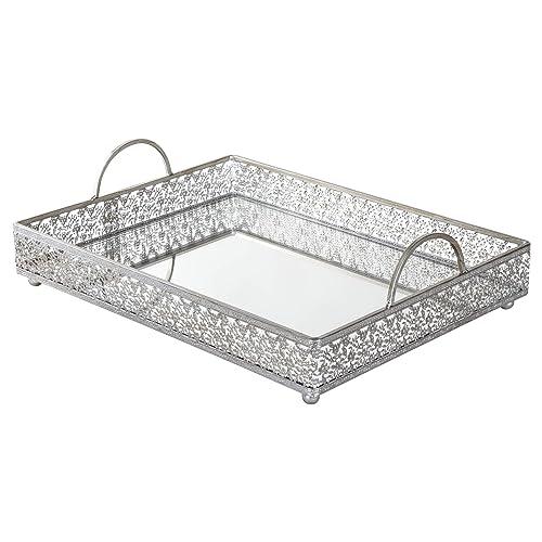 Antique Silver Decorative Tray Amazon Com