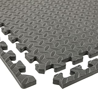 IncStores Diamond Soft Extra Thick Anti Fatigue Interlocking Foam Tiles (25 Pack, Grey)..