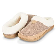 7c479de61 Floopi Womens Indoor Outdoor Herringbone Fur Lined Clog Slipp .