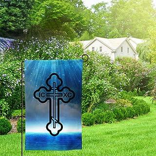 TONGHUANBAO Eastern Orthodox Cross Garden Indoor/Outdoor Durable Home Decor Standard 12.5 X 18 Inch