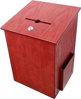 Buddy Products Wood Suggestion Box, 7.25 x 10 x 7.5 Inches, Medium Oak (5622-11)