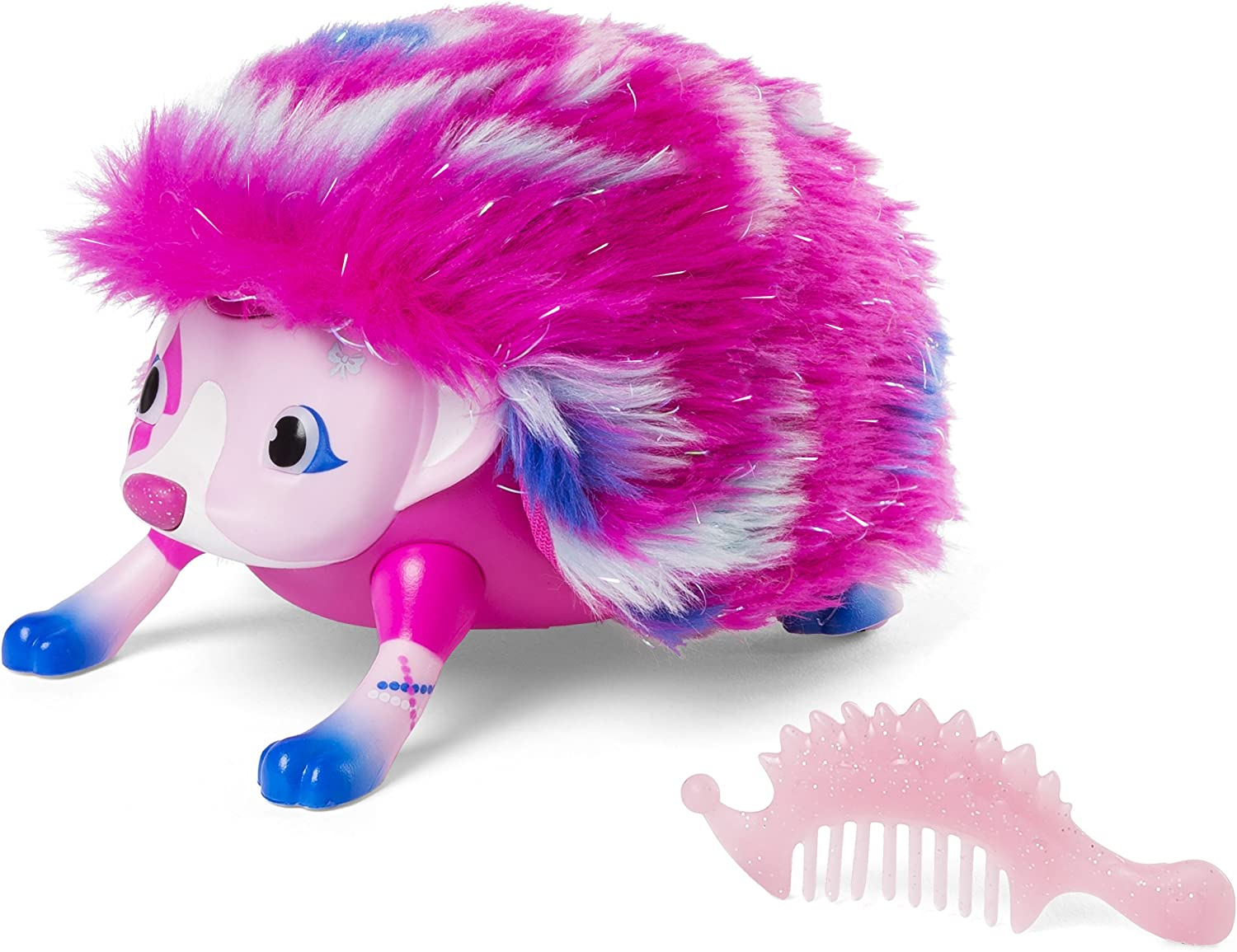 Zoomer Hedgiez, Ava, COAT GLITTERS     Interactive Hedgehog with Lights, Sounds and Sensors, by Spin Master