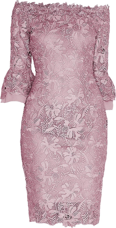 Paper Dolls Womens Ladies Crochet Lace Bardot Dress