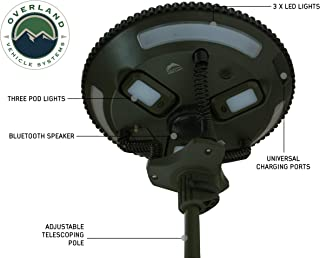 Overland Vehicle Systems Wild Land Camping Gear - UFO Solar Light Light Pods & Speaker Universal