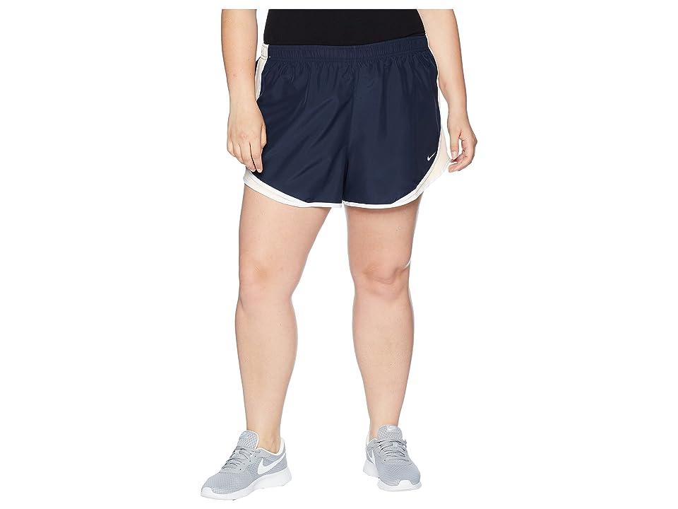 Nike Dry Tempo 3 Running Short (Size 1X-3X) (Obsidian/Crimson Tint/White/Wolf Grey) Women