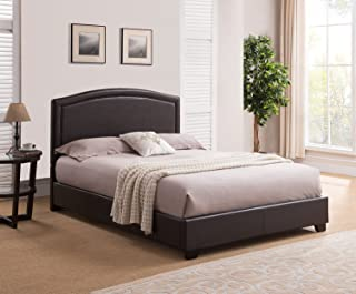 Mantua Annapolis Upholstered Platform Bed, King, Brown,