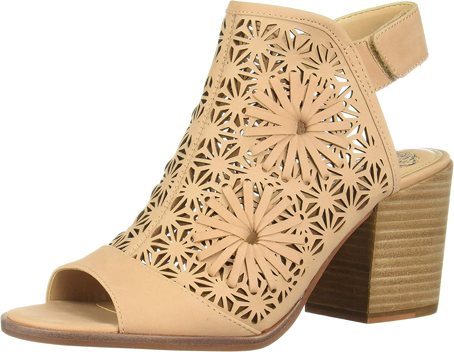 Vince Camuto Women's Leera Synthetic Open Toe Ankle Strap Wedge Sandal