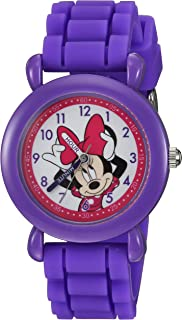 DISNEY Girls' Minnie Mouse Analog-Quartz Watch with...