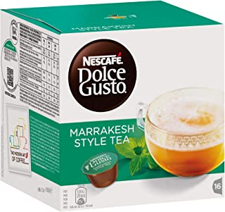 Nestlé Nescafe Dolce Gusto Coffee and Tea Pods – Marrakesh Style Tea Flavor - Choose Quantity (1 Pack(16 Capsules))