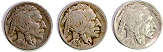 1928 P, S, D Buffalo Nickel AC