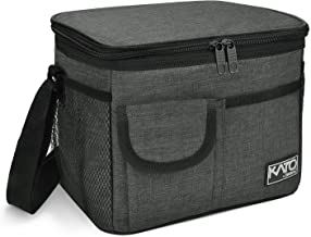 Insulated Lunch Box for Women Men, Leakproof Thermal Reusable Lunch Bag with 4 Pockets..