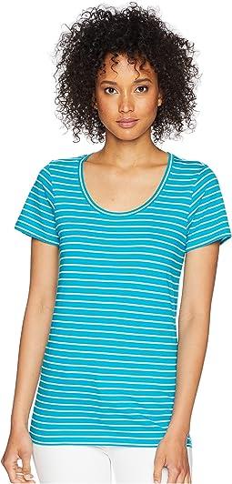Enamel Blue/Marshmallow Stripe