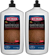 Weiman Wood Floor Polish and Restorer 32 Ounce (2 Pack) - High-Traffic Hardwood Floor, Natural Shine, Removes Scratches, Leaves Protective Layer
