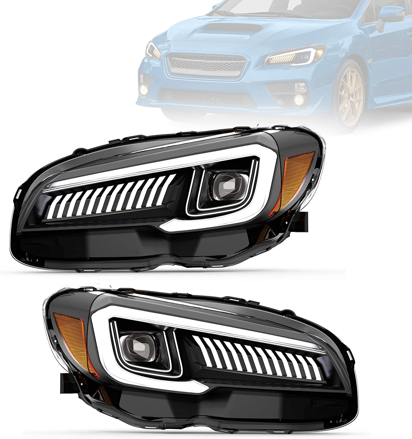 VLAND Headlight Assembly Max 45% OFF Fit for Subaru 2016 2017S Large special price STI WRX 2015