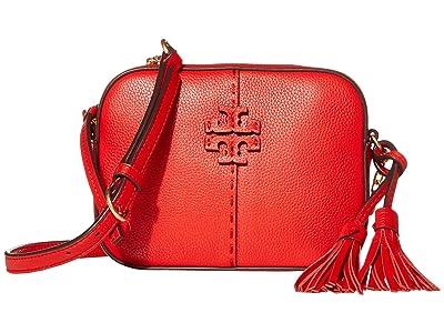 Tory Burch McGraw Camera Bag (Brilliant Red) Bags