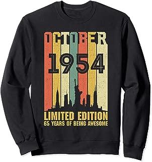 October 1954 65 Year Old Shirt 1954 Birthday Gift Sweatshirt