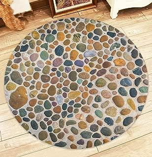 Best round pebble rug Reviews
